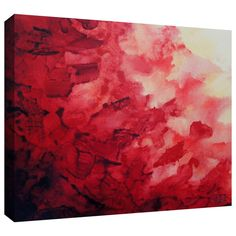 ArtWall Shiela Gosselin 'Red Watery Abstract' Gallery-wrapped Canvas
