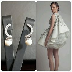 ASHI Studio Dress  BrideIstanbul Earrings
