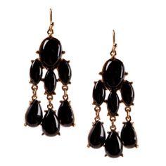 MLA - Margaret Lavish Accessories - Black Odessa Earrings, $15.00 (http://margaretlavish.com/jewelry/earrings/black-odessa-earrings/)