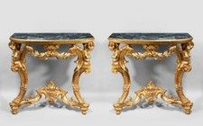 Pair of 18th Century Gilt Wood Pier Tables