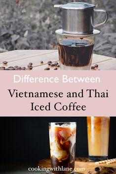 Thai and Vietnamese iced coffee comparison   asian coffee   #icedcoffee #asiancoffee #vietnamesecoffee #thaicoffee