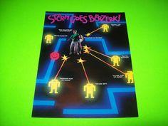 Stern BERZERK Classic 1980 Original NOS Video Arcade Game Sales Flyer Berserk #Stern