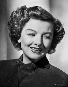Myrna Loy smiling Portrait in Classic with Earrings Premium Art Print