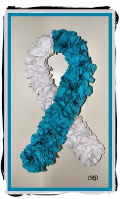 Cervical Cancer Awareness Wreath Teal and by CharleeRoseDesigns, $30.00