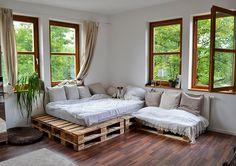 60 Stunning DIY Projects Pallet Sofa Design Ideas 59 – Home Design Couch Furniture, Pallet Sofa, Furniture, Cozy Apartment, Diy Outdoor Furniture, Diy Sofa, Pallet Furniture Designs, Diy Furniture, Sofa Design