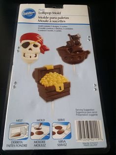 Pirate lollipop  candy mold