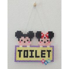 Toilet sign perler beads by m.saya.k