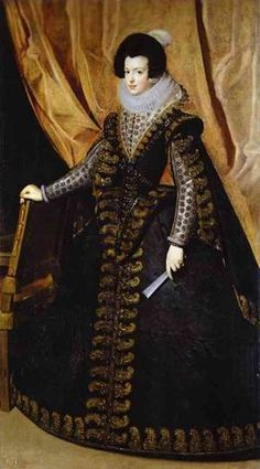 Queen Isabella, ca. 1632 (Diego Velasquez) (1599-1660) Private Collection