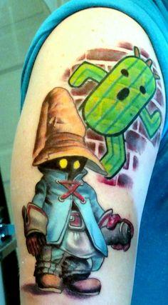 Vivi/Cactaur done by Matt Stines at No Regrets tattoos in Champaign IL