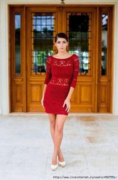 Chic crochet vestido de Janaína Mendonça. Debate sobre LiveInternet - Servicio rusos Diarios Online