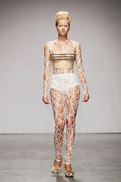 """Designer Winde Rienstra tries this with her SS2012 collection, """"11:11″."""