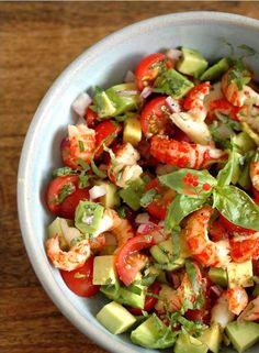 Une excellente façon de relever plusieurs salades, c'est d'y incorporer des fruits de mer qui, en pl... - Photo Pinterest