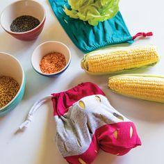 Learn how to make reusable produce bags // Mother Earth News & @TrashN2Tees #TheUpcycledTshirt