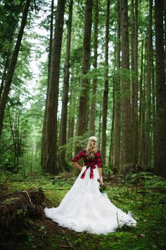 gorgeious and classy bridal flannel dresses (11)