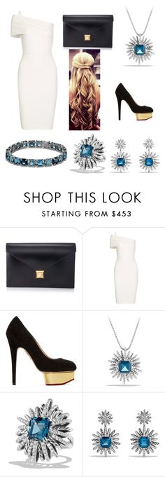 """Cocktail Style"" by annisyaar on Polyvore featuring Hermès, Michelle Mason, Charlotte Olympia and David Yurman"