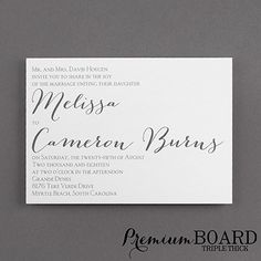 Contemporary Expressions - Triple Thick Invitation - Wedding Invitations - Wedding Invites - Wedding Invitation Ideas - View a Proof Online - #weddings #wedding #invitations
