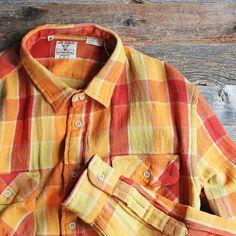 LVC (LEVI'S VINTAGE CLOTHING) - SHORTHORN SHIRT (DEEP ORANGE) / リーバイス・ヴィンテージクロージング