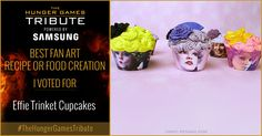 I voted for Effie Trinket Cupcakes as Tribute for The Hunger Games Tribute Awards #TheHungerGamesTribute  tribute.thehungergames.movie