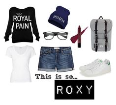 """""""This is so... ROXY"""" by adigoddess ❤ liked on Polyvore featuring adidas Originals, H&M, Herschel Supply Co. and James Perse"""
