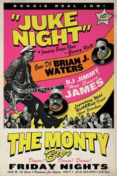 DJ's Brian Waters & Jimmy James do their thing on Firday nights here at Monty with an all 45 set of pumping R!! No cover!