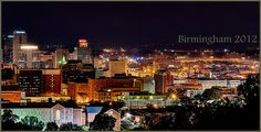 Birmingham nightscape from Vulcan Park. Birmingham Skyline, Birmingham Alabama, Vacation Trips, Vacation Travel, Alabama News, State Of Colorado, Home Of The Brave, Land Of The Free, Living In La