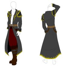 Outfit Adopt - Pirate Captain Coat - SOLD by ShadowInkAdopts.deviantart.com on @deviantART