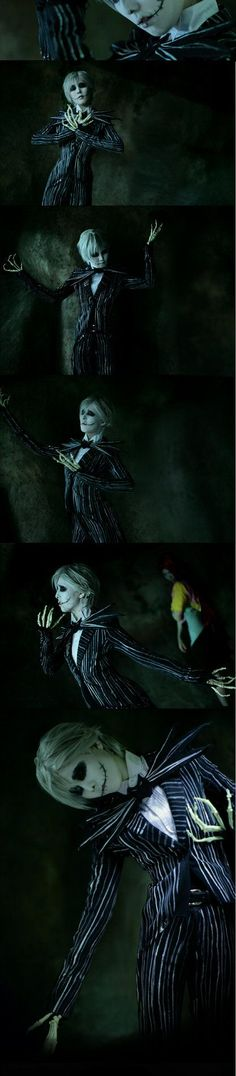 The Nightmare Before Christmas Cosplay - Jack Skellington Cosplay Anime, Epic Cosplay, Disney Cosplay, Amazing Cosplay, Cosplay Outfits, Cosplay Costumes, Halloween Kostüm, Halloween Cosplay, Halloween Makeup