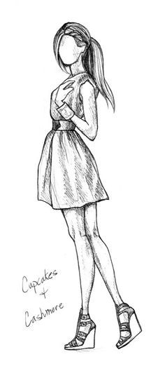fashion sketches dresses black and white - Google Search
