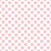Très Chic ~ Polka Dot ~ Dauphine and White - peacoquettedesigns - Spoonflower, can be rescaled and recolored!!