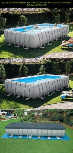 """12'x24'x52"""" Intex 28365EH Rectangular Ultra Frame Above Ground Swimming Pool Kit #kit #pools #tech #ground #fpv #x #plans #drone #parts #24 #gadgets #above #shopping #technology #52 #camera #products #racing"""