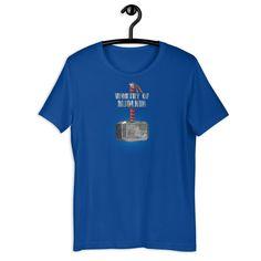 Worthy of Mjolnir - Superhero Unisex T-Shirt - True Royal / XL