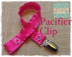 Hot Pink Double Ruffle Paci Clip Toy Clip by busylizzieboutique, $5.99