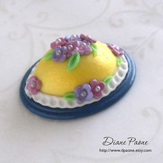 Dollhouse Miniature Food  Easter Egg Cake by dpaone on Etsy