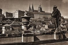 Karel Plicka shot fine monochrome photographs of Prague from the and documented a dark and mysterious Prague, a gothic and baroque Praha which. Prague Czech, Old World, Baroque, Monochrome, Mystery, Gothic, Castle, Dark, Photography