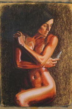 Maternità, pastel on paper, 2009