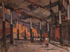 Konstantin Korovin (Russian 1861–1939) [Impressionism, Art Nouveau] Military tent Mato, 1909.