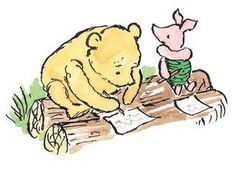 "Pooh said to Piglet:""It's all right, Piglet. Spelling is easy once you get started."""