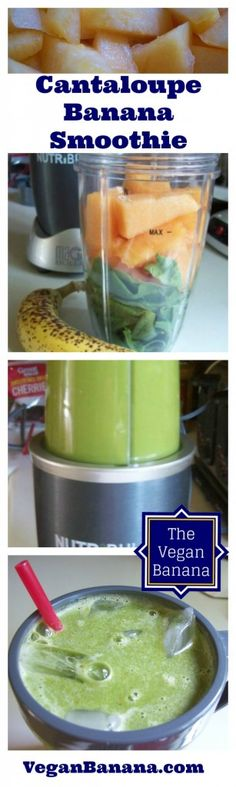 Vegan Banana Cantaloupe Smoothie Movie Strip