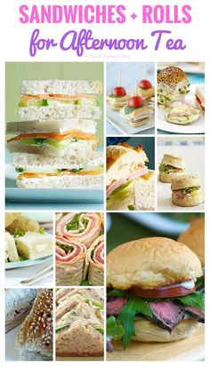 50 Afternoon Tea Recipes - from finger sandwiches, and savoury tarts, to scones, and more! All the recipes you will need to host an afternoon tea party! Sandwiches Afternoon Tea, Afternoon Tea Recipes, Afternoon Tea Parties, Afternoon Tea Baby Shower, English Afternoon Tea, Mini Sandwiches, Tea Party Sandwiches Recipes, Sandwiches For Parties, Party Finger Sandwiches
