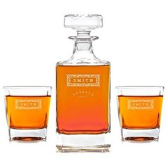 Dimitri named Engraved classic pattern decanter to create a personal gift for your husband, boyfriend, groomsmen, father, or other important man in your life. Check it out! Whiskey Decanter, Whiskey Glasses, Best Groomsmen Gifts, Groomsman Gifts, Sentimental Gifts For Men, Personalized Gifts, Liquor, Perfume Bottles
