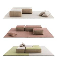 White, red or green? What's your favorite?  RAW by @gan_rugs, fusion between modernity and tradition  Borja García takes inspiration from the traditional architecture of the Mediterranean.  Read more on Arachiproducts.com  #archiproducts #design #rugs #sofa #pouf #gan #gandiablasco #ganrugs