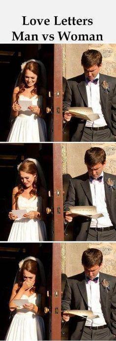 Men vs. Women - Love letters.