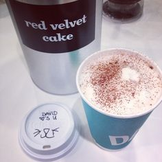 """(by you): """"New at David's Tea - Red Velvet Cake"""" <- MUST try!"""