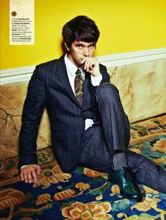 Ben Whishaw In British GQ