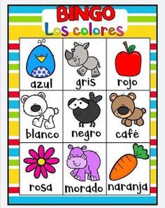 Juego bingo de los colores para aprender los colores 4 Kids, Diy For Kids, Baby Kids, Color Activities, Toddler Activities, Cardboard Recycling, Games For Kids, Kid Games, Kids Learning