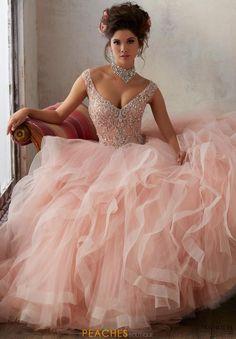 fc3f0d601 27 mejores imágenes de Vestidos de XV color rosa palo