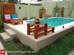 Resultado de imagem para piscina de palets