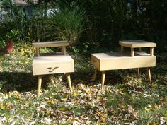 Mid Century End Tables $100 - homewwod http://furnishly.com/catalog/product/view/id/1556/s/vintage-mid-century-end-tables/