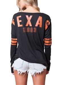 University of Texas Austin Longhorns Womens Spirit Football Jersey Texas Longhorns Football, Ut Longhorns, Ut Football, Baseball, Cheer Outfits, Sport Outfits, Lakeway Texas, Tailgate Outfit, Texas Shirts
