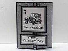 2015   Stampin' Up! Guy Greetings Father's Day Gatefold Card (Plus A Free Tutorial!)
